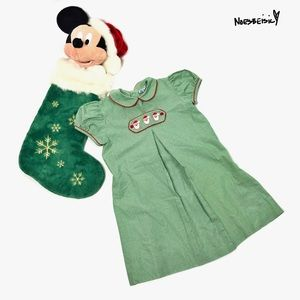 Orient Expressed Inc Girls Smocked Christmas Dress